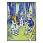 Vintage Wizard of OZ Characters Postcard