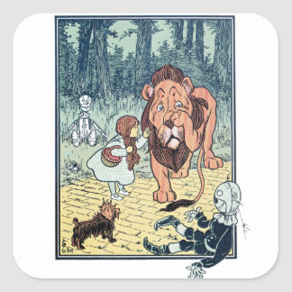 Vintage Wizard of Oz Characters, Yellow Brick Road Sticker