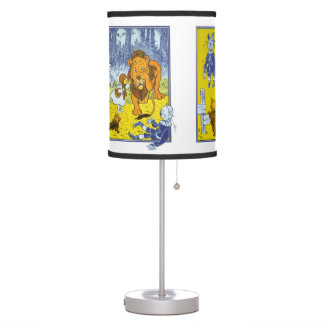 Vintage Wizard of Oz Collage Table Lamp