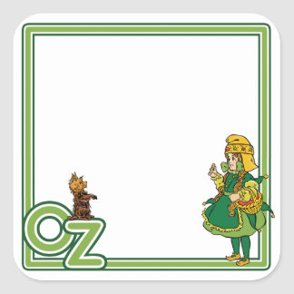 Vintage Wizard of Oz; Dorothy and Toto Square Sticker