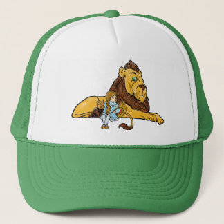 Vintage Wizard of Oz, Dorothy and Toto with Lion Trucker Hat