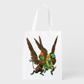 Vintage Wizard of Oz, Dorothy, Evil Flying Monkeys Grocery Bags