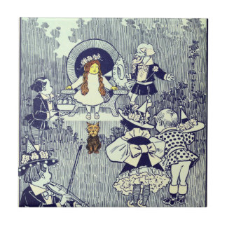 Vintage Wizard of Oz, Dorothy Meets the Munchkins Tiles
