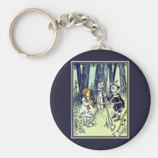 Vintage Wizard of Oz, Dorothy Meets the Tinman Basic Round Button Keychain