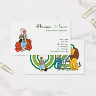Vintage Wizard of Oz, Dorothy, Red Poppy Flowers Business Card