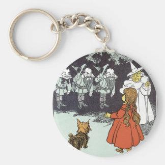 Vintage Wizard of Oz Dorothy Toto Glinda Munchkins Basic Round Button Keychain