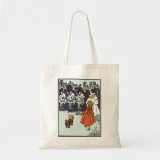 Vintage Wizard of Oz Dorothy Toto Glinda Munchkins Tote Bag