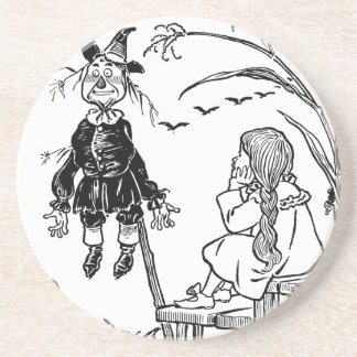 Vintage Wizard of Oz, Dorothy Toto Meet Scarecrow Drink Coasters