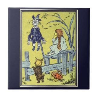 Vintage Wizard of Oz, Dorothy Toto Meet Scarecrow Tile