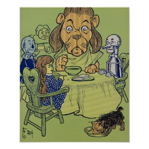 Vintage Wizard of Oz Eating At The Table Posters