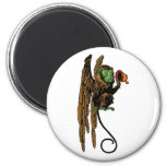 Vintage Wizard of Oz, Evil Flying Monkey Hat 2 Inch Round Magnet