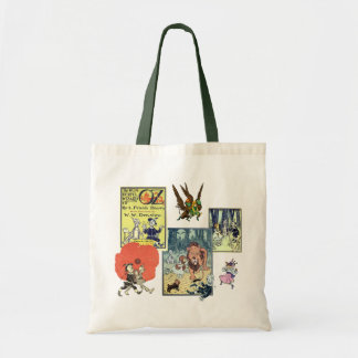 Vintage Wizard of Oz Fairy Tale Book Characters Tote Bag