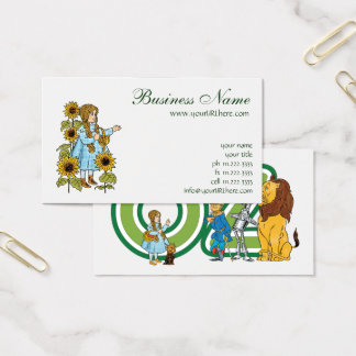 Vintage Wizard of Oz Fairy Tale Dorothy Sunflowers Business Card