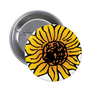 Vintage Wizard of Oz Fairy Tale Sunflower in Bloom 2 Inch Round Button
