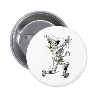 Vintage Wizard of Oz Fairy Tales, the Scarecrow 2 Inch Round Button