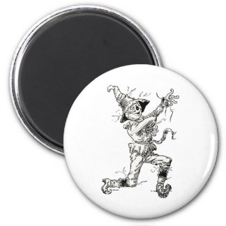 Vintage Wizard of Oz Fairy Tales, the Scarecrow 2 Inch Round Magnet