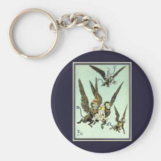 Vintage Wizard of Oz, Flying Monkeys with Dorothy Basic Round Button Keychain