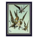 Vintage Wizard of Oz, Flying Monkeys with Dorothy Poster