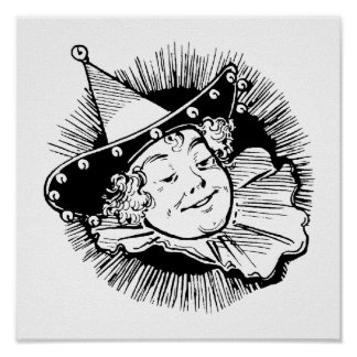 Vintage Wizard of Oz, Lady Munchkin Portrait Poster