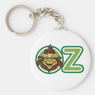 Vintage Wizard of Oz, Lion in the Letter O Basic Round Button Keychain
