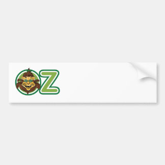 Vintage Wizard of Oz, Lion in the Letter O Bumper Sticker