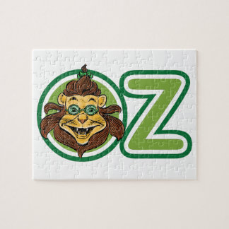 Vintage Wizard of Oz, Lion in the Letter O Jigsaw Puzzle