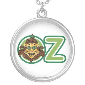Vintage Wizard of Oz, Lion in the Letter O Silver Plated Necklace