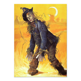 Vintage Wizard of Oz Scarecrow Card