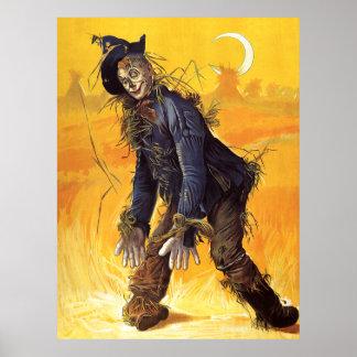 Vintage Wizard of Oz Scarecrow Print