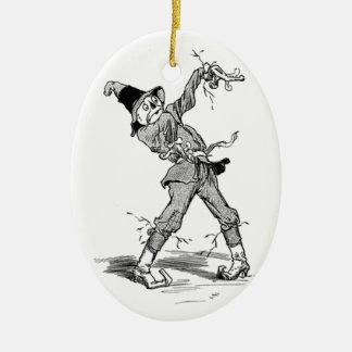 Vintage Wizard of OZ Scarecrow / Tin Man Ornament