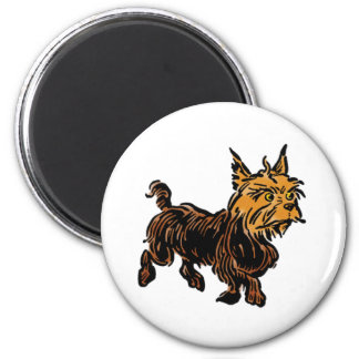 Vintage Wizard of Oz, Toto the Cute Puppy Dog 2 Inch Round Magnet