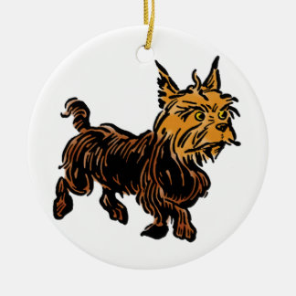 Vintage Wizard of Oz, Toto the Cute Puppy Dog Ceramic Ornament