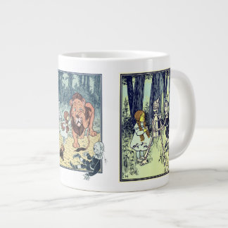 Vintage Wizard of Oz, Various Book Characters Large Coffee Mug