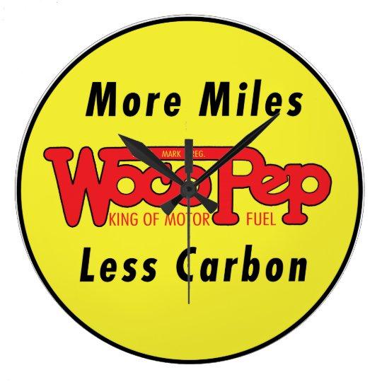 Vintage Woco Pep Motor Oil Wall Clock