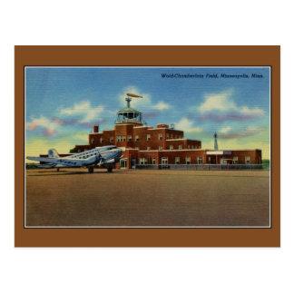 Vintage Wold-Chamberlain airport Minneapolis Postcard