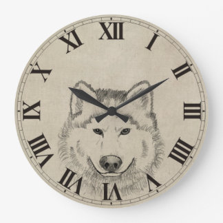 Vintage Wolf Wall Clock