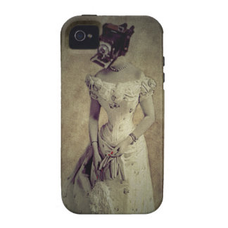 Vintage Woman Camera Art Decor iPhone 4/4S Cover