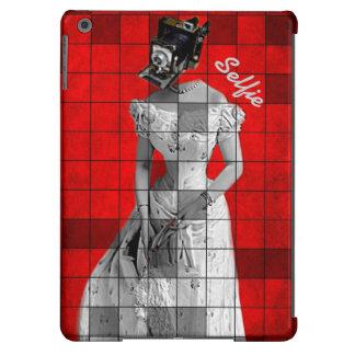 Vintage Woman&Camera Red iPad Air Case