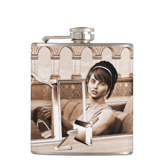 Vintage Woman Flasks