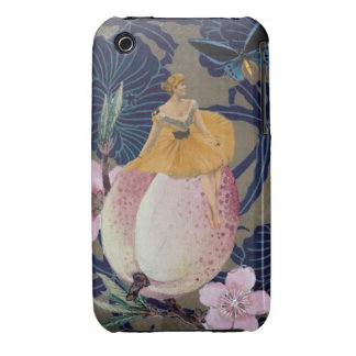 Vintage Woman Flower Collage II iPhone 3 Case-Mate Cases
