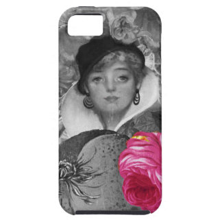 Vintage Woman Flower Garden iPhone 5 Covers