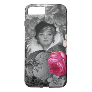 Vintage Woman Flower Garden iPhone 7 Plus Case