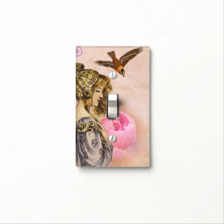 Vintage woman light switch cover