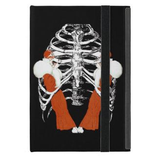 Vintage Woman Lips Ribcage Grunge Cover For iPad Mini