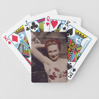 Vintage Woman Playing Cards