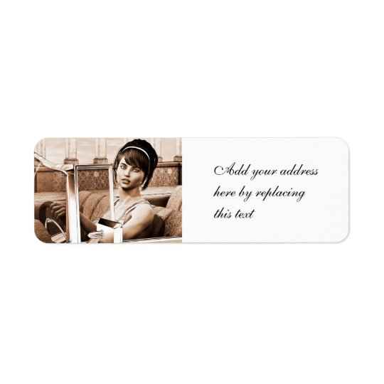 Vintage Woman Return Address Label
