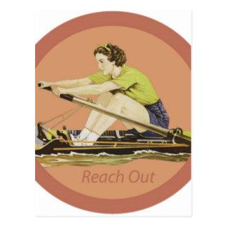 Vintage Woman Rower Postcard