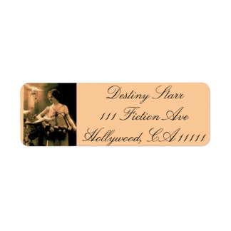 Vintage Woman With Doves Return Address Label