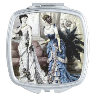 Vintage Women Compact Mirror