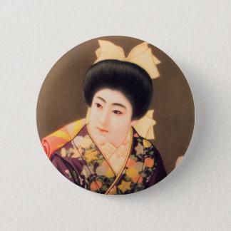 Vintage Women Japanese Beautiful Geisha Woman 2 Inch Round Button